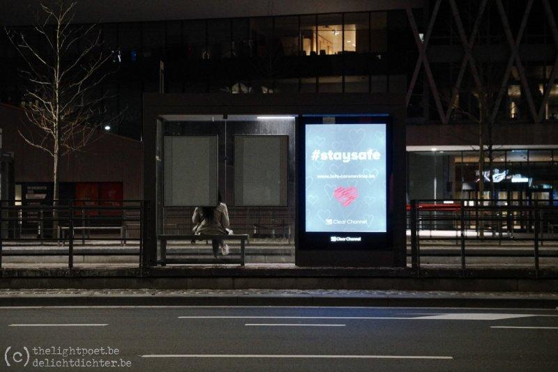 Noorderplaats, wachtend op een tram.