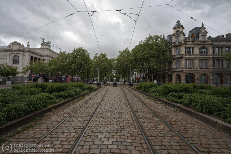 1 mei, Leopold De Waelplaats, waar normaalgezien de 1 mei-stoet vertrekt...