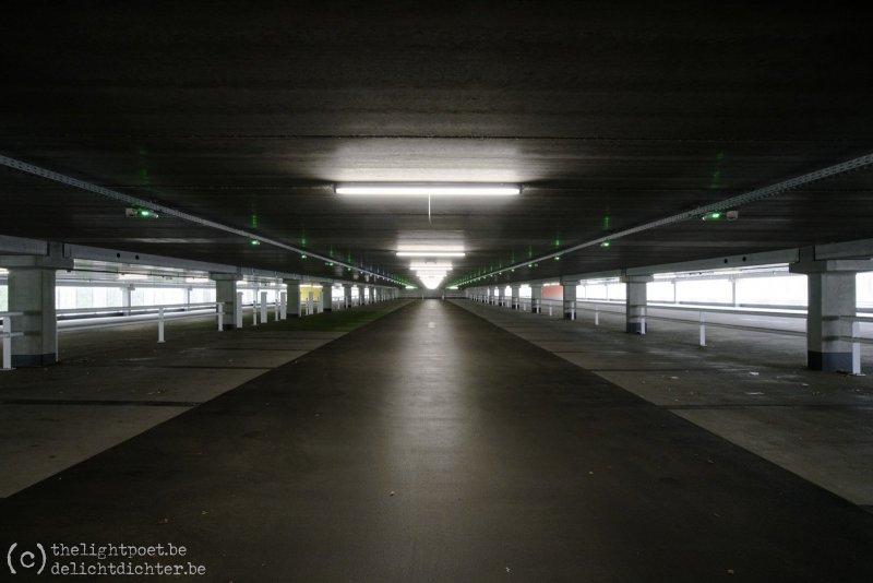 Bezoekersparking UZA, zondagnamiddag