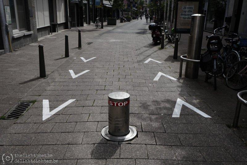 Jezusstraat: voetgangers moeten rechts aanhouden