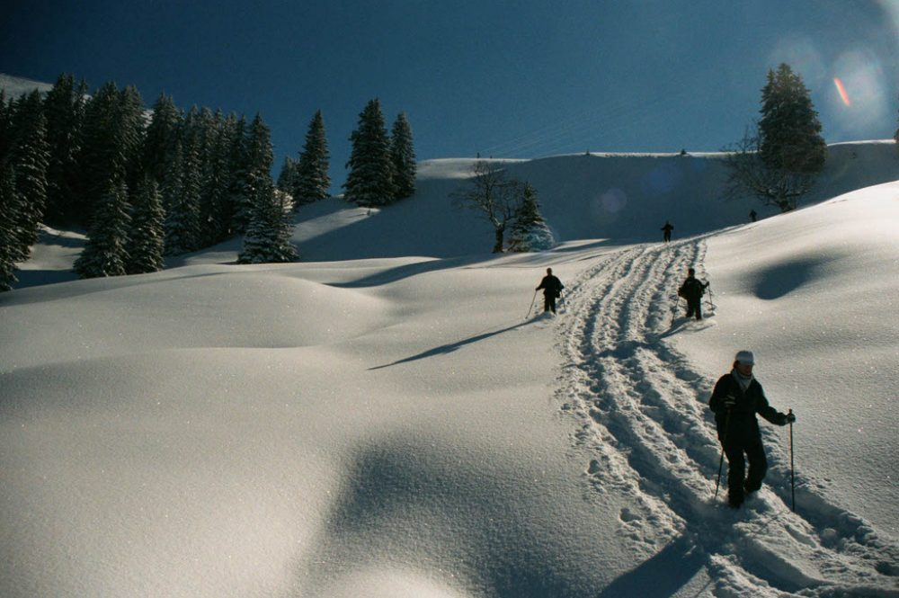 Sneeuwschoenen, Les Pléiades, maart 2001
