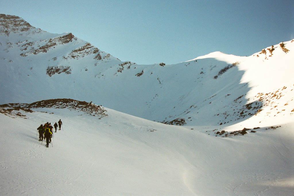 Sneeuwschoenen, Les Pléiades, februari 2002