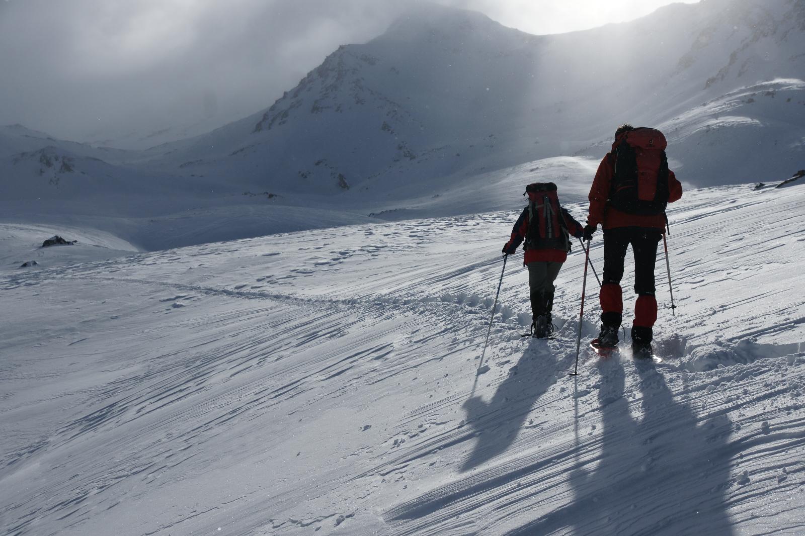 Sneeuwschoenen, Névache, februari 2009