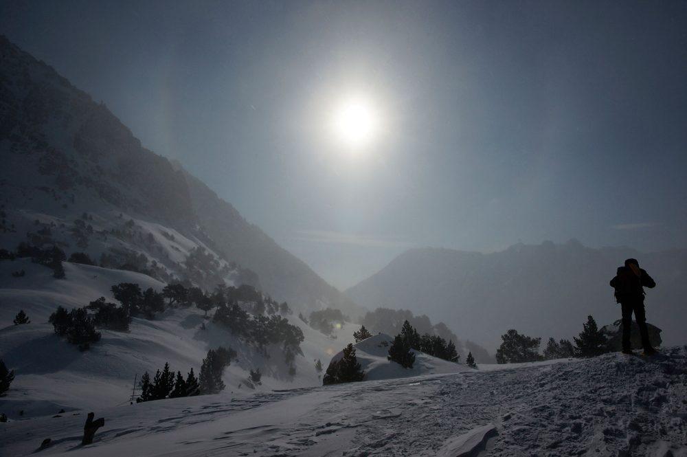 Sneeuwschoenen, Aigües Tortes, maart 2010
